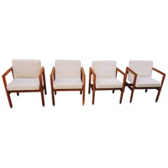 Thonet Armchairs Set of Four, circa 1960