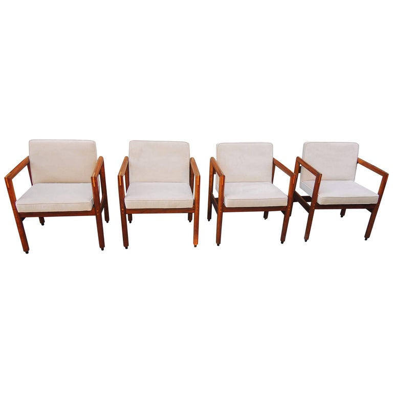 Thonet Armchairs Set of Four, circa 1960 For Sale