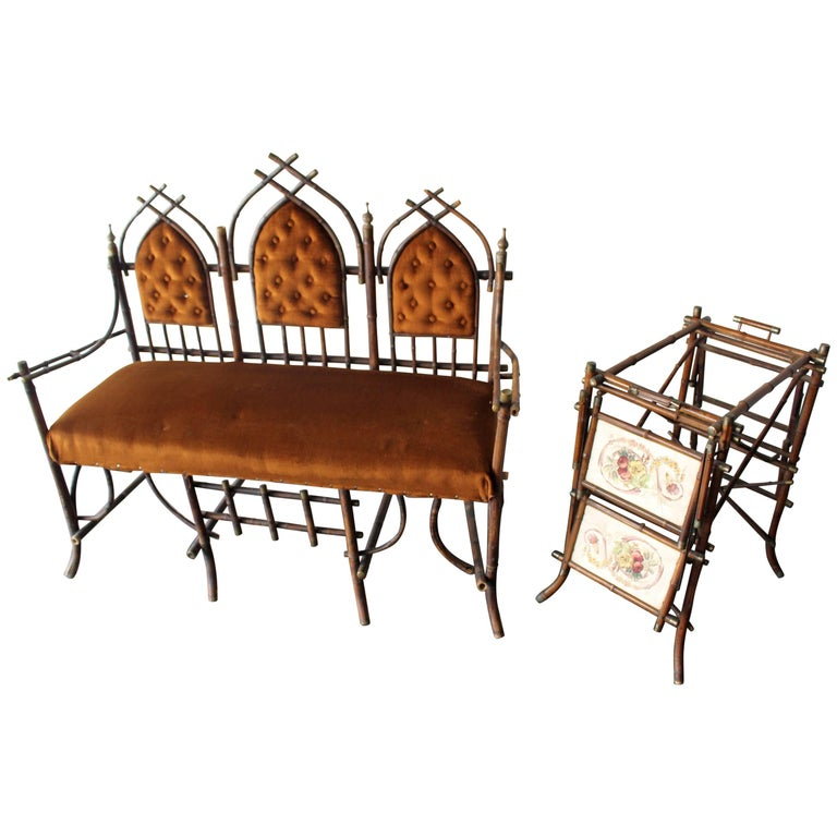 French Victorian Bamboo Dinning Room Set