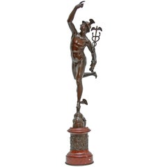 Fine Bronze Sculpture of Mercury an Exceptional Casting