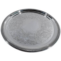 Traditional Georgian Sterling Silver Serving Tray by Gorham