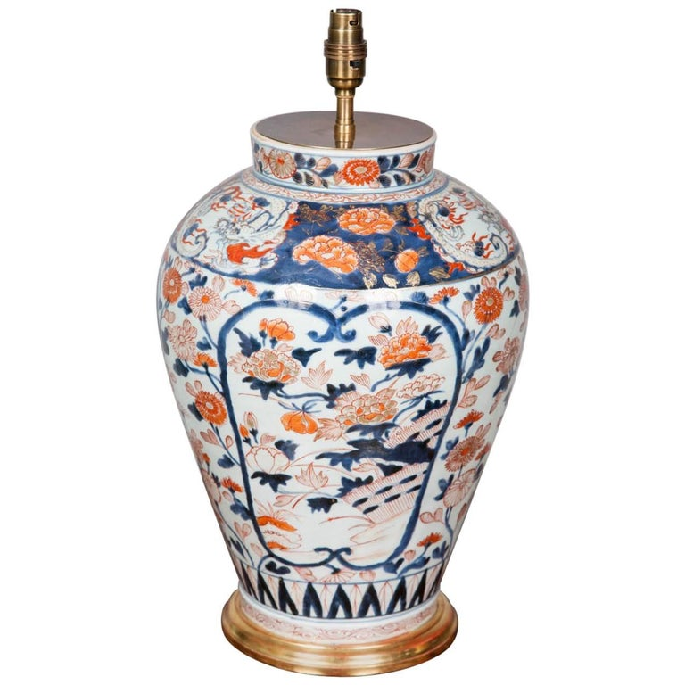 18th Century Japanese Imari Vase As A Lamp For Sale At 1stdibs
