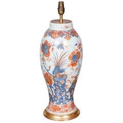 Chinese 18th Century Imari Vase, Lamped