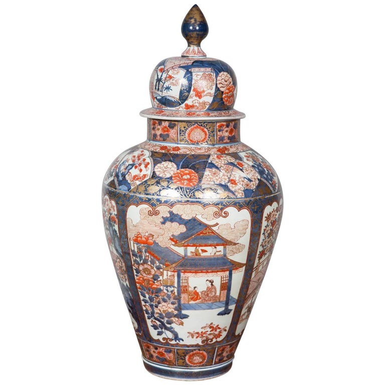17th Century Imari Vase And Cover For Sale At 1stdibs