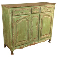 French Provencal 18th Century Buffet in Painted Wood