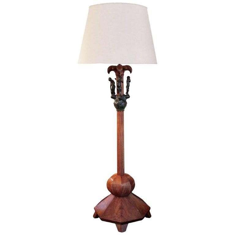 German neoclassical 1920s floor lamp for sale at 1stdibs for German floor lamps