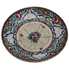 Persian Dish in Ceramic with Flowers, Early 17th Century