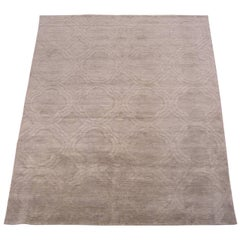Contemporary Rug with Sculptured Geometric Design