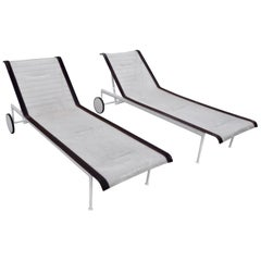 Pair of Richard Schultz Chaise Lounges for Knoll