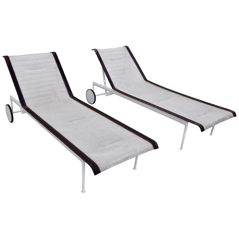 Pair of Richard Schultz Chaise Lounges for Knoll For Sale