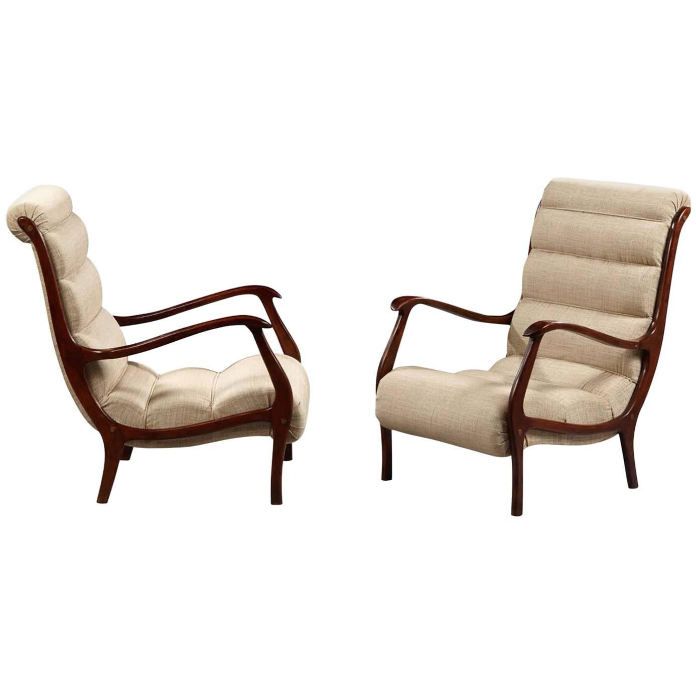 Pair of Mid-Century Armchairs, Italy, 1960s