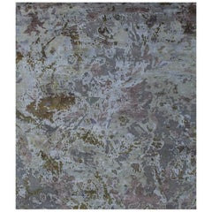 Odyssey 'Slayton – Eris' Hand-knotted, Wool & Silk, Abstract Rug, Any Size