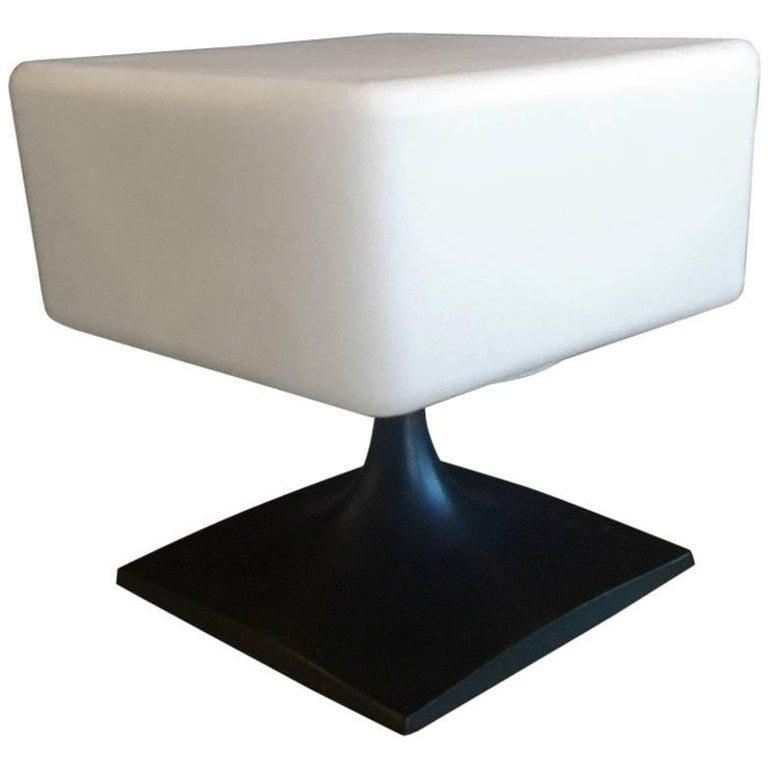 Rare Midcentury Square Lamp by Laurel Lamp Co