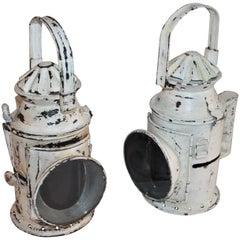 19th Century White Painted Lanterns