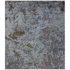 Odyssey 'Slayton-Eris' Hand-knotted, Wool and Silk, Abstract Rug