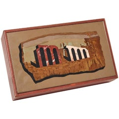 Midcentury Grand Tour Pietra Dura Leather Box, by Richard Blow