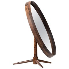 Table Mirror in Rosewood Produced in Denmark