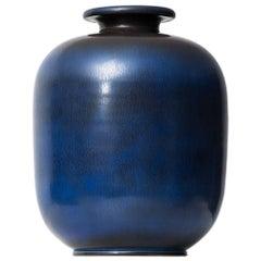 Berndt Friberg Large Ceramic Vase by Gustavsberg in Sweden