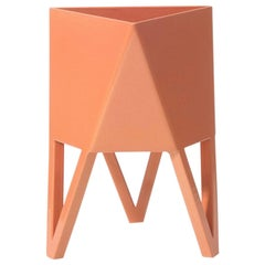 Deca Planter in Salmon Pink Steel, Small, by Force/Collide