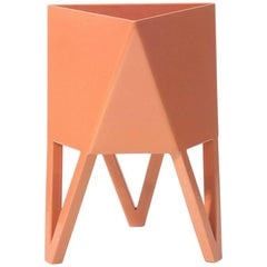 Deca Planter in Salmon Pink Steel, Medium, by Force/Collide
