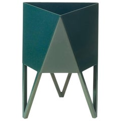 Deca Planter in Bluegreen Steel, Small, by Force/Collide