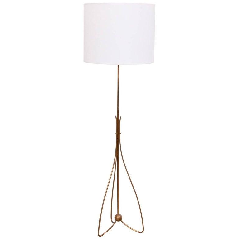 German 1950s brass pinleg tripod floor lamp for sale at for German floor lamps