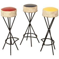 Set of 1960s French Bar Stools