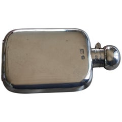Silver Hall Marked Hip or Pocket Flask, Richard Burbridge Date 1915