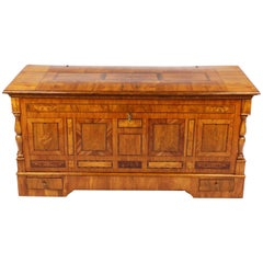 Beautiful and Rare Marburger Finch Chest, Biedermeier, circa 1820-1830, Cherry
