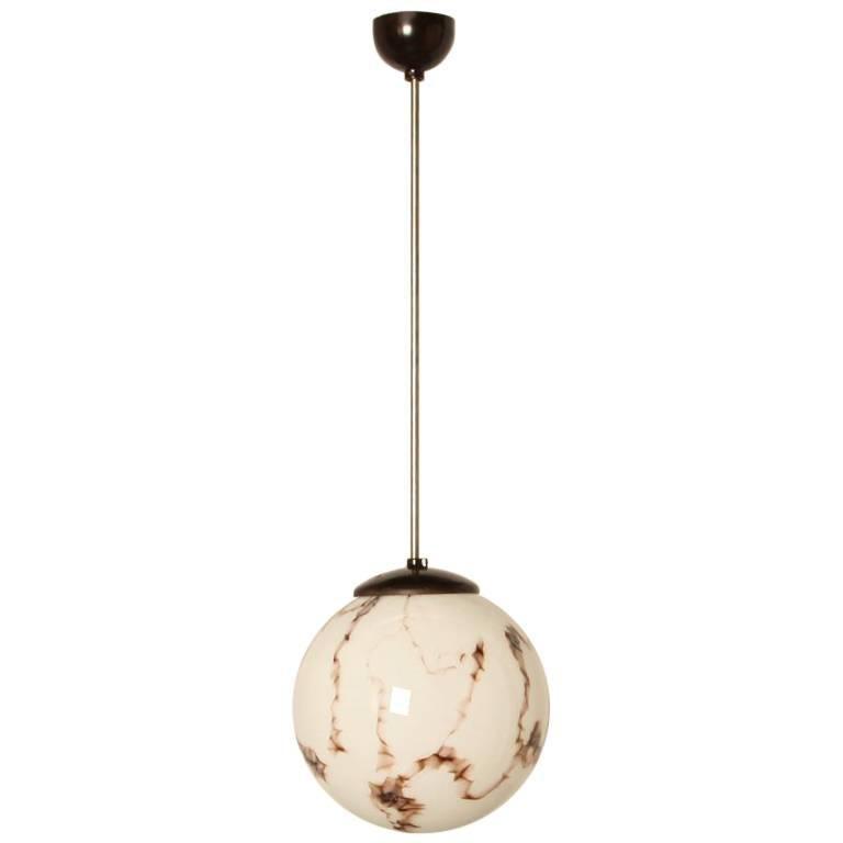 Bauhaus Style Bakelite Pendant Marbled Hanging Lamp