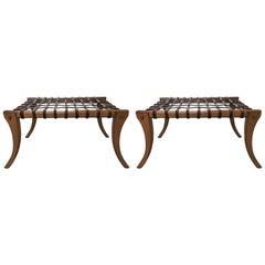 Two Klismos Benches in the Manner of T.H. Robsjohn-Gibbings