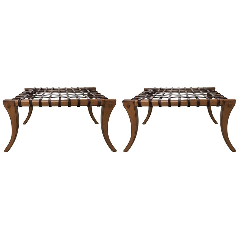Two Klismos Benches in the Manner of T.H. Robsjohn-Gibbings
