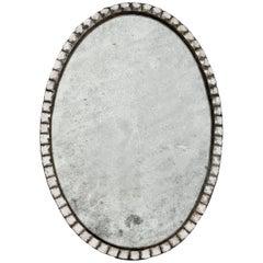 Late 19th Century Cut-Glass Mirror