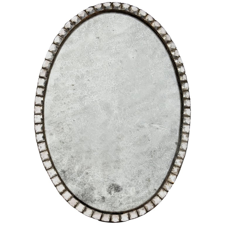 Late 19th Century Cut-Glass Mirror
