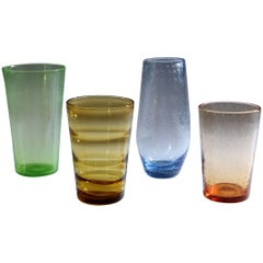 Group of Whitefriars Glass Vases