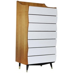 Scandinavian Modern Tall Chest with Drawers, 1970s