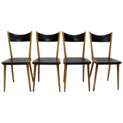 Mid-Century Modern Vintage Beech Dining Chairs, 1950s, Vienna