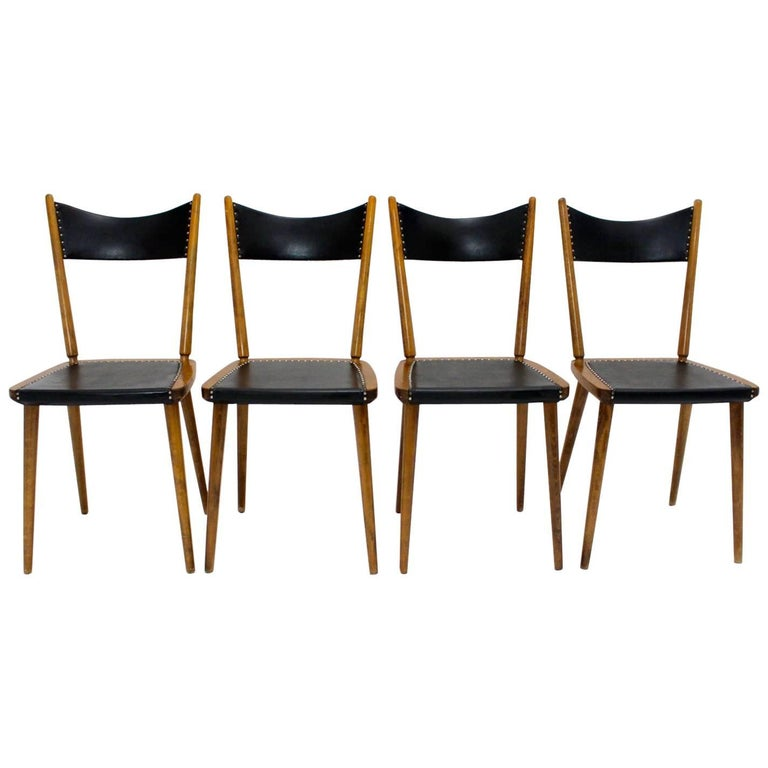 Mid-Century Modern Dining Chairs, 1950s, Vienna