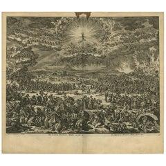 Antique Bible Print the Final Judgement by J. Luyken, 1743