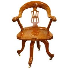 Victorian Mahogany Revolving Desk Chair