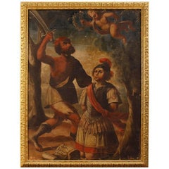 Italian Religious Oil Painting Canvas Martyrdom of Saint Alexander, 18th Century