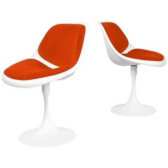 Swivel Fiberglass Tulip Chairs, 1970s, Set of Two