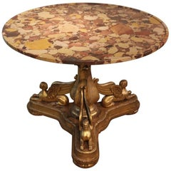 19th Century Country House Giltwood Centre Table