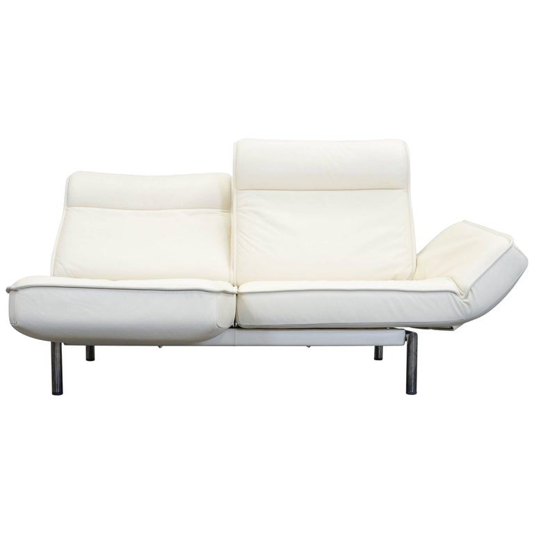De Sede DS 450 Designer Leather Sofa Creme Relax Function Two-Seat ...