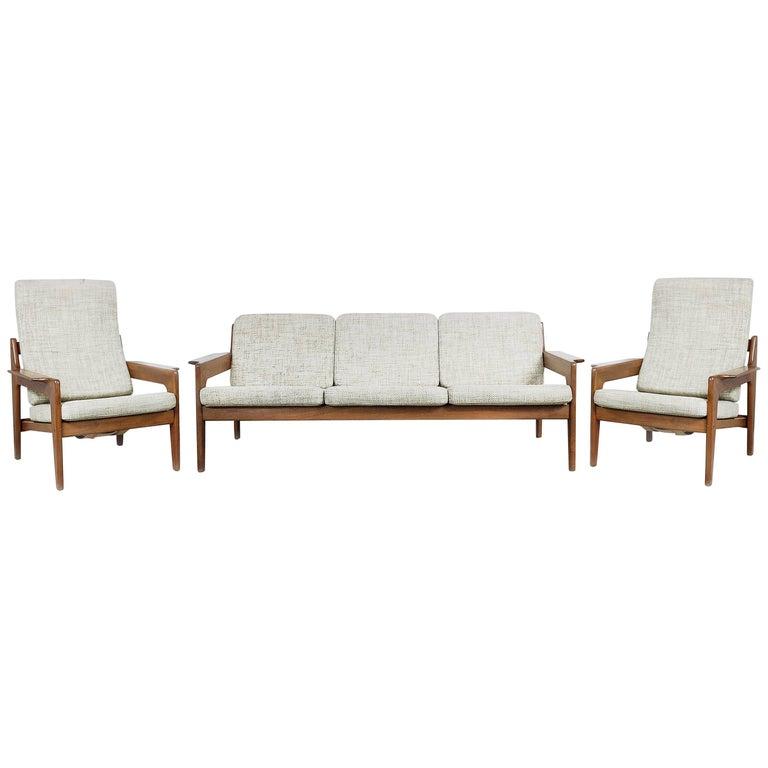 Danish Teak Living Room Set By Arne Wahl Iversen For