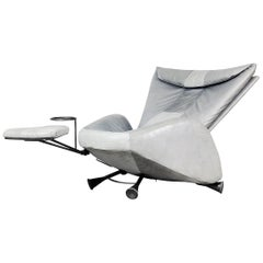 Adjustable Chair with Ottoman and Table by Kurt Ziehmer, 1980s