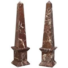 Pair of Rogue Marble Obelisks