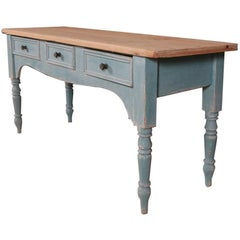 Painted Pine Serving Table