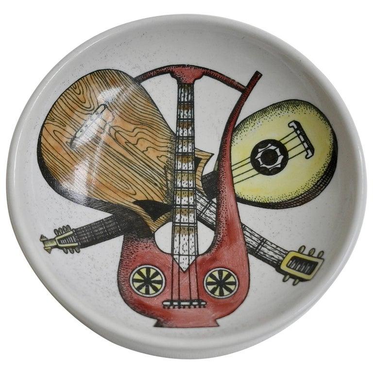 Piero Fornasetti Ceramic 'Strumenti Musicali' Dish