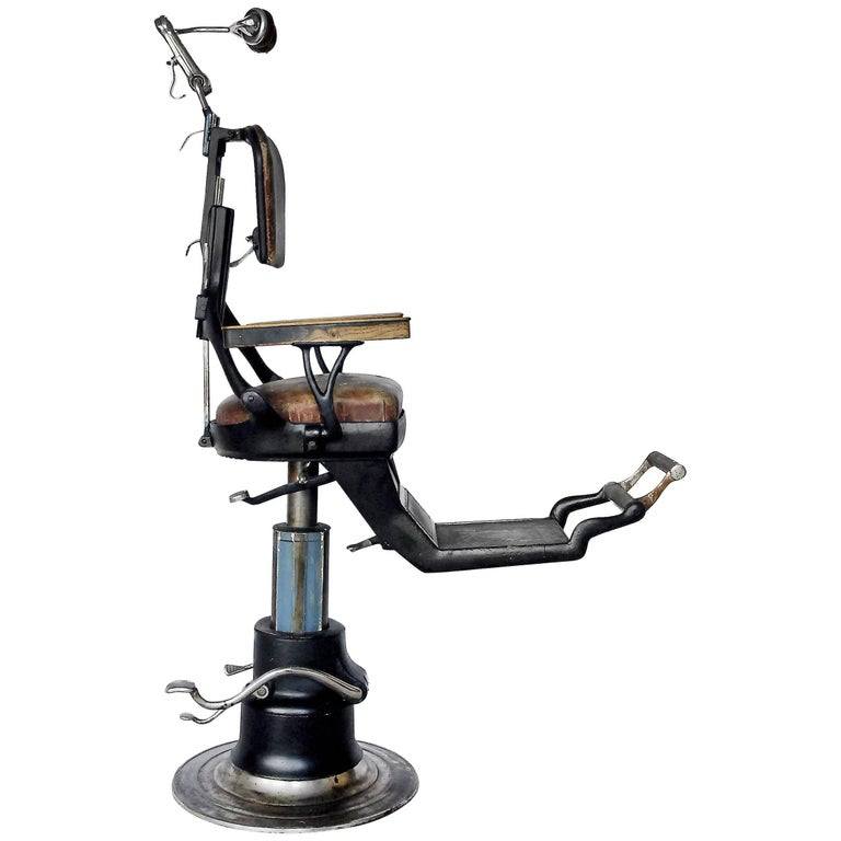 American Industrial Dental Chair from Ritter, 1920s For Sale - American Industrial Dental Chair From Ritter, 1920s For Sale At 1stdibs